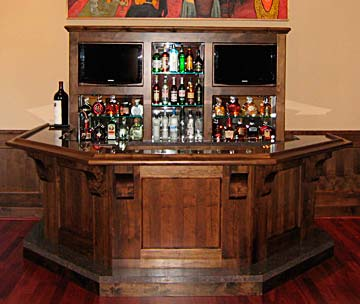 Fabulous wet bar, solid wood