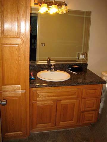 Bathroom cabinets from darryn 39 s custom cabinets serving for Semi custom bathroom cabinets