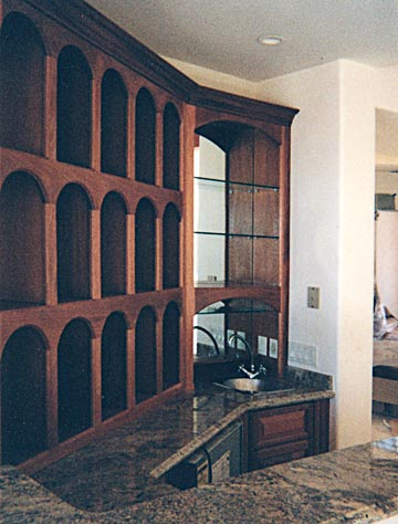 custom home wet bar