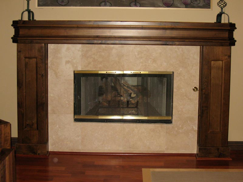 fireplace, solid wood