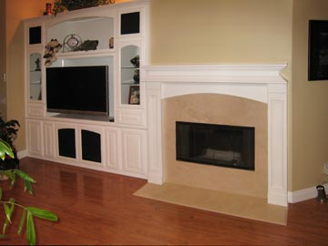 fireplace with entertainment center