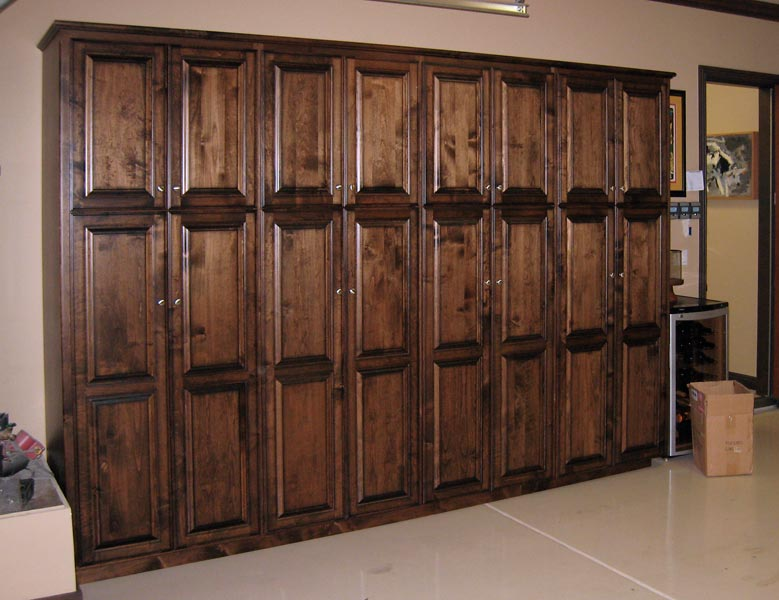 solid wood garage storage cabinets