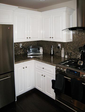 solid wood white kitchen cabinets
