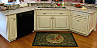 custom kitchen island, cabinets
