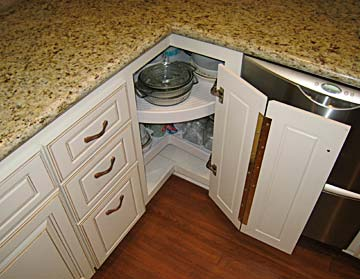 Corner Kitchen Cabinet - small kitchen design ideas