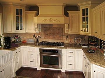 Custom kitchen cabinets from darryn 39 s custom cabinets for Angled corner kitchen cabinets