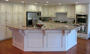 molding, custom trim, kitchen