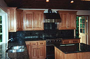 Solid wood, kitchen cabinets