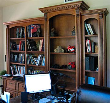 library shelving, solid wood