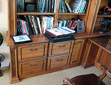 home office, desk, custom