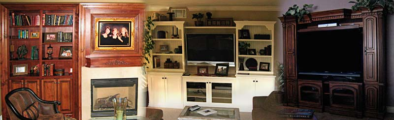 home office, library shelving, entertainment centers, custom built