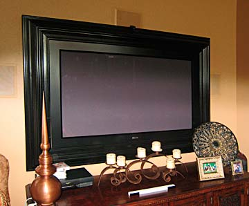 wall mounted TV, custom