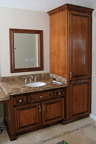 Bathroom Cabinets from Darryn's Custom Cabinets serving ...